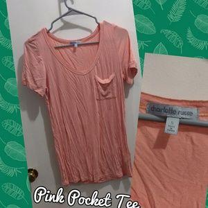 Basic Pink Pocket Tee